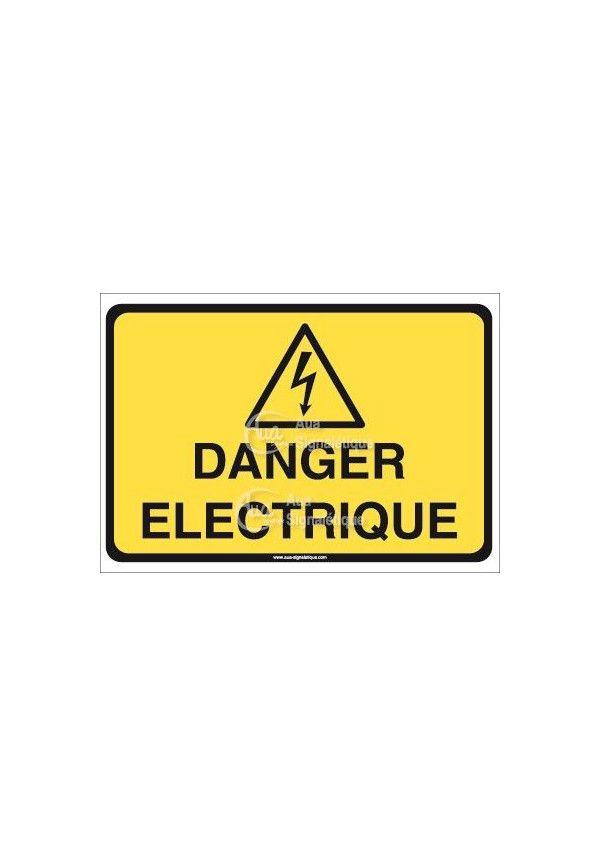 Panneau danger électrique horizontal