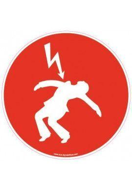 Panneau Danger électrique Rouge