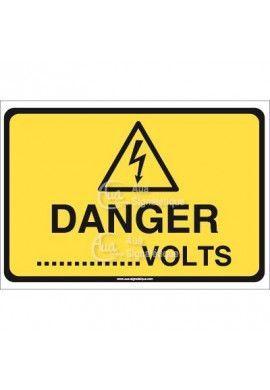 Panneau danger volts