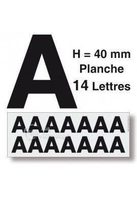 Planche 14 Lettres prédécoupés -Hauteur 40mm