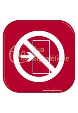 Autocollant Vinylopicto sortie interdite
