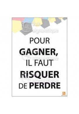 Affichage Rigide Motivation - Pour Gagner