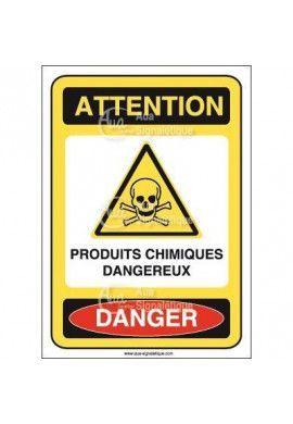 Panneau produits chimiques dangereux - AI
