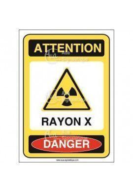 Panneau rayon X Vinyl adhésif 75x105 mm