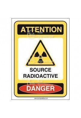 Panneau source radioactive
