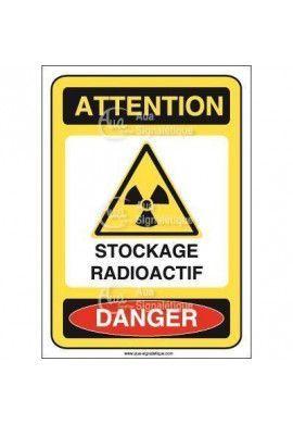 Panneau stockage radioactif
