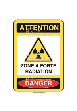 Panneau zone a forte radiation