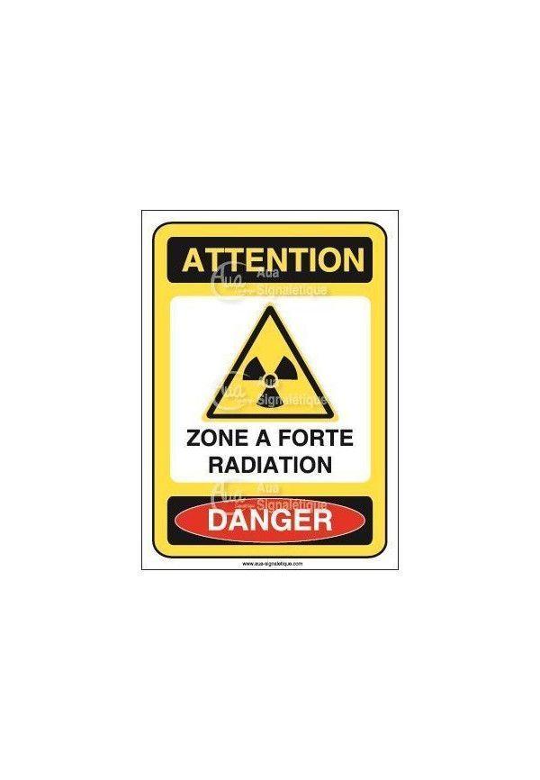 Panneau zone a forte radiation Vinyl adhésif 75x105 mm