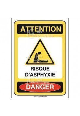 Panneau risque d'asphyxie - AI