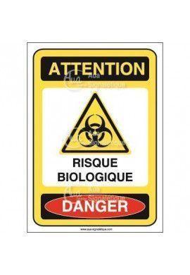 Panneau risque biologique