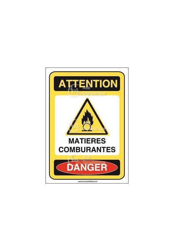 Panneau matières comburantes Vinyl adhésif 75x105 mm