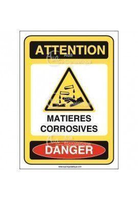 Panneau matières corrosives - AI