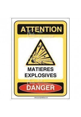 Panneau matières explosives Vinyl adhésif 75x105 mm