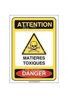 Panneau matières toxique Vinyl adhésif 75x105 mm