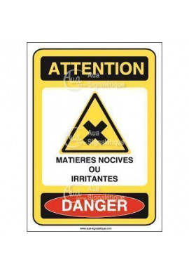 Panneau matières nocives ou irritantes - AI