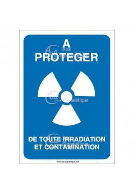A protéger de toute irradiation et contamination Vinyl adhésif 75x105 mm