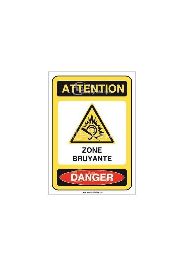 Panneau attention zone bruyante danger - AI