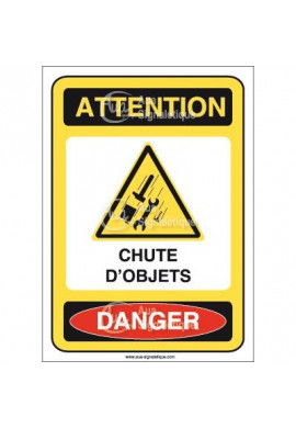 Panneau attention chute d'objets danger - AI