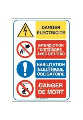 Panneau quatro danger electricité