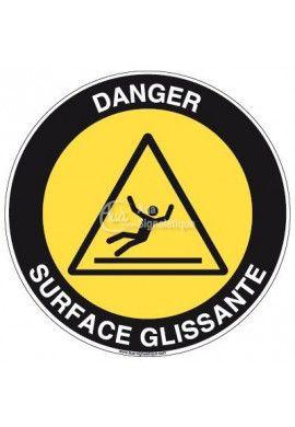 Panneau Danger Surface Glissante - R