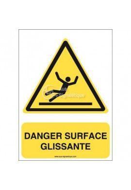 Panneau Danger, Surface glissante - AI