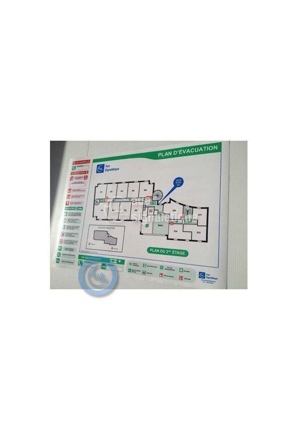 Plan d'évacuation Plastifié Adhésif
