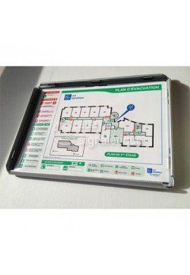 Plan d'évacuation horizontal Avec Cadre Aluminium clic-clac