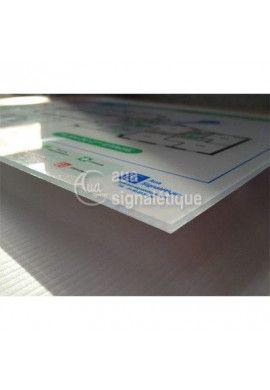 Plan d'évacuation horizontal Plexiglas 4mm A3 Fond Blanc