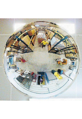 Miroirs Hémisphériques Espace Publics 4 Directions 1/2 demi-Sphère POLYMIR
