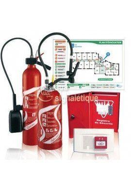 Kit sécurité incendie boutique - 200m²