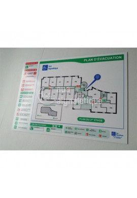Plan d'évacuation PVC Blanc 2mm