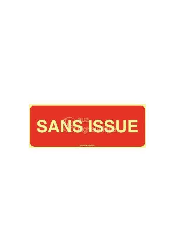 Panneau Sans Issue-texte-PH-B