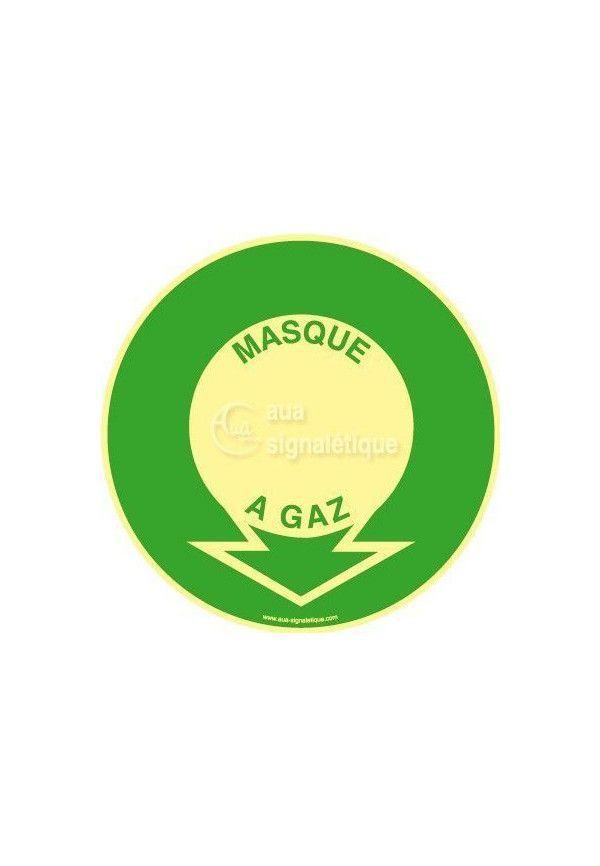 Panneau Localisation Masque À Gaz PH-R