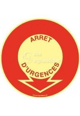 Panneau Emplacement Arrêt D'urgence PH-R