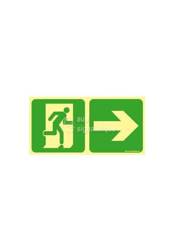 Panneau Direction de sortie, vers la gauche-PH-C