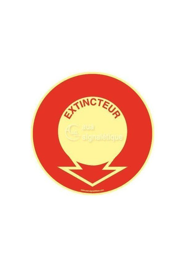 Panneau Emplacement Extincteur - Texte PH-R