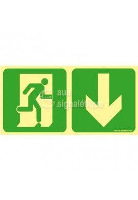 Panneau Direction de sortie, en dessous vers la droite-PH-C