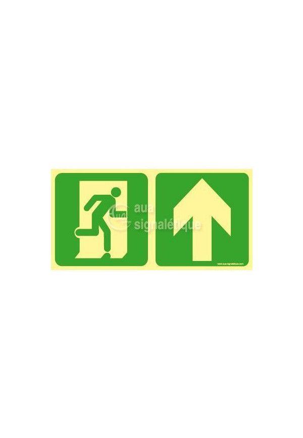 Panneau Direction de sortie, au dessus vers la droite-PH-C