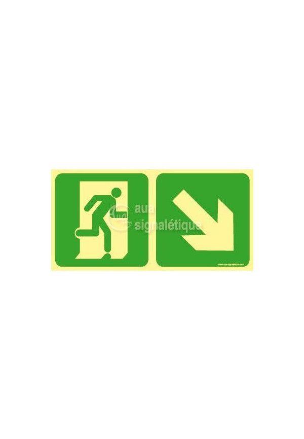 Panneau Direction de sortie en descendant vers la droite-PH-C