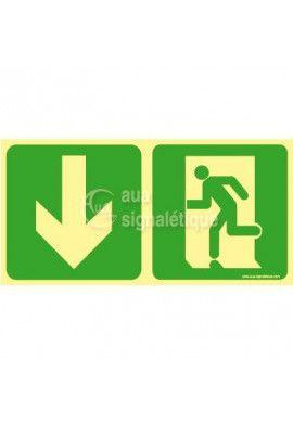 Panneau Direction de sortie, en dessous vers la gauche-PH-C