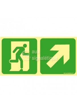 Panneau Direction de sortie, en montant vers la droite-PH-C