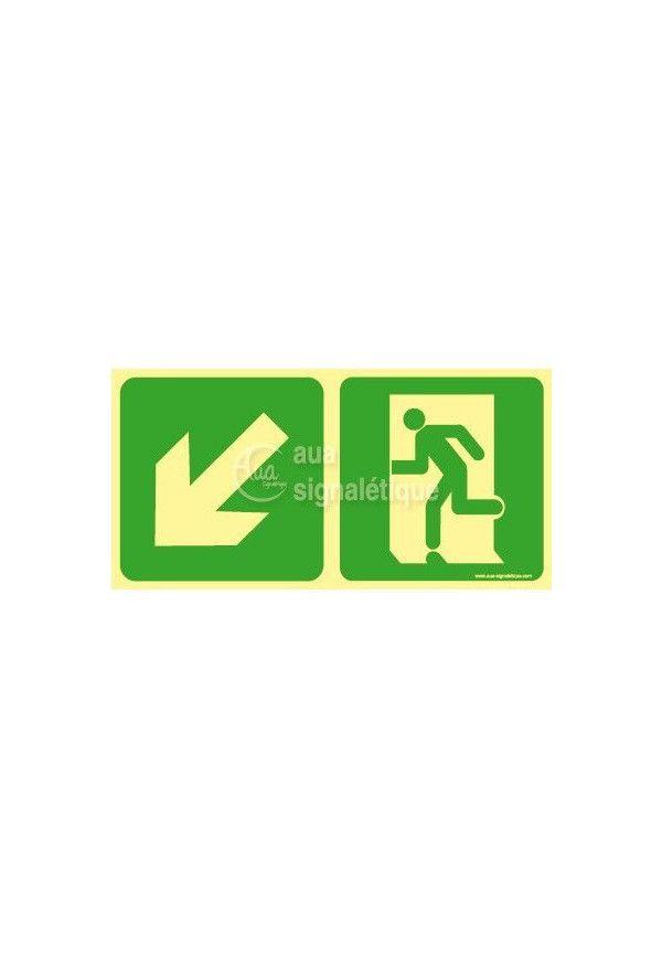 Panneau Direction de sortie en descendant vers la gauche-PH-C