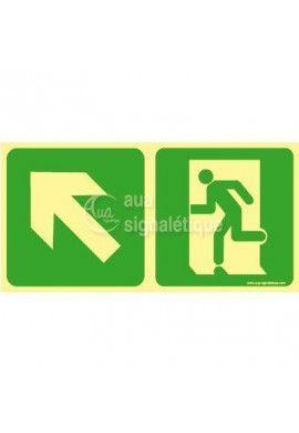 Panneau Direction de sortie en montant vers la gauche-PH-C