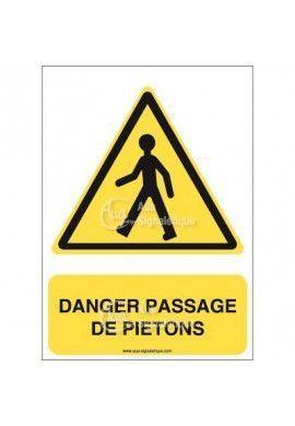 Panneau danger passage de piétons