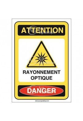 Panneau attention rayonnement optique danger - AI