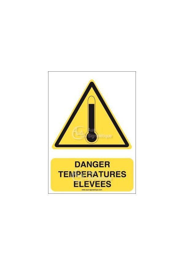 Panneau danger température élevées