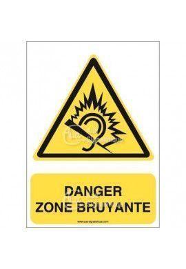 Panneau danger zone bruyante