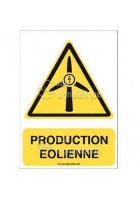 Panneau Production Eolienne - AI