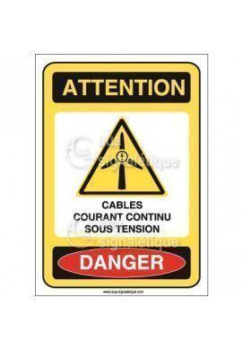Panneau Cables Courant Continu Sous Tension - AI