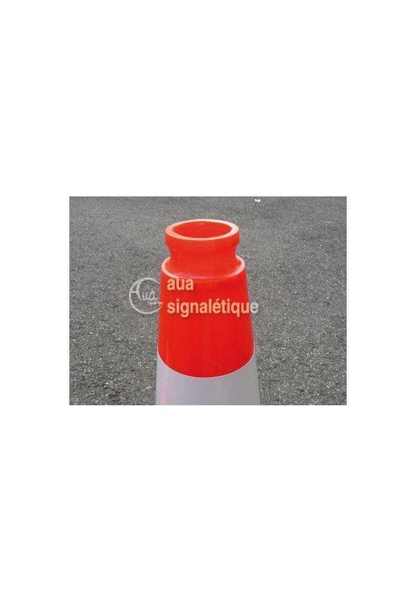 Cônes de Signalisation Non Rétro - 2 bandes - 500mm
